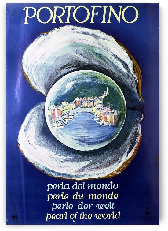 Portofino Pearl of the World poster by VINTAGE POSTER