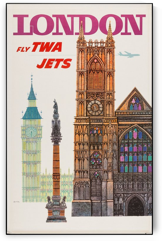 TWA London Vintage Travel Poster by VINTAGE POSTER