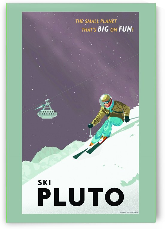 Ski Pluto poster by VINTAGE POSTER
