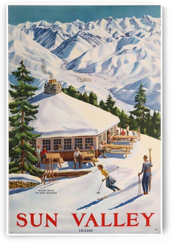 Sun Valley Idaho Original Ski Poster 1940 by VINTAGE POSTER