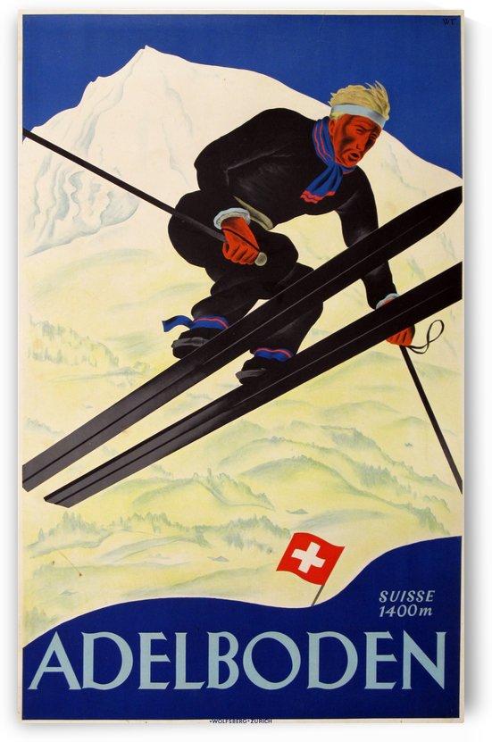 Adelboden Vintage Swiss Poster by VINTAGE POSTER