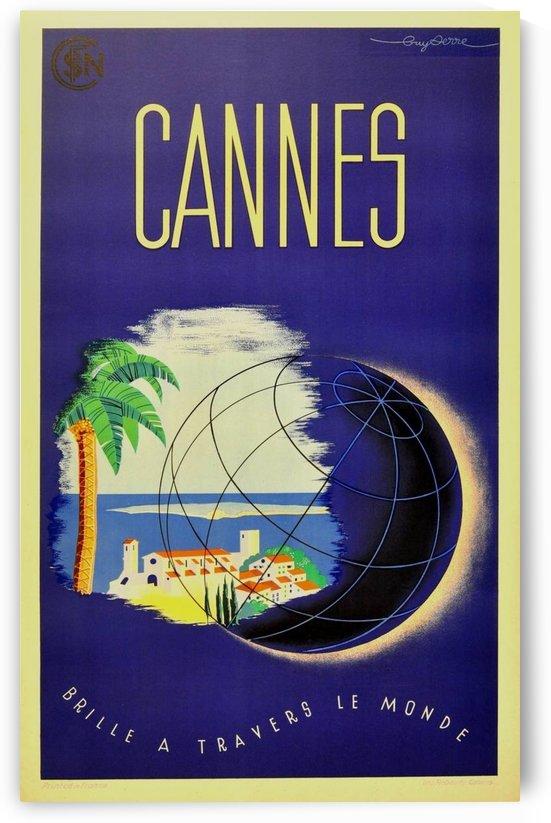 Guy Serre Cannes original vintage travel poster by VINTAGE POSTER