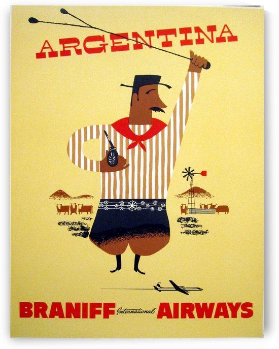 Argentina Braniff International Airways by VINTAGE POSTER