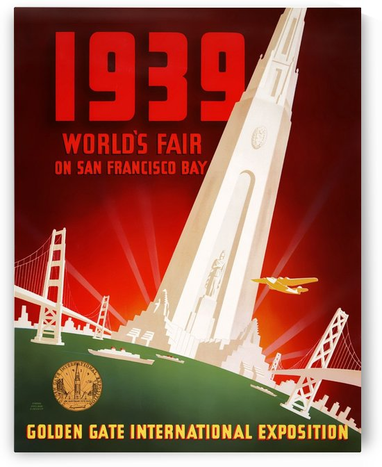 1939 World Fair on San Francisco Bay by VINTAGE POSTER