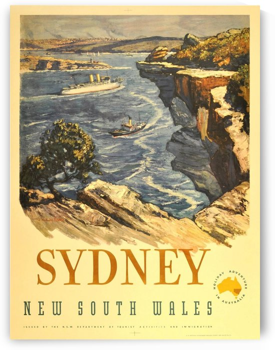 Sydney New South Wales by VINTAGE POSTER