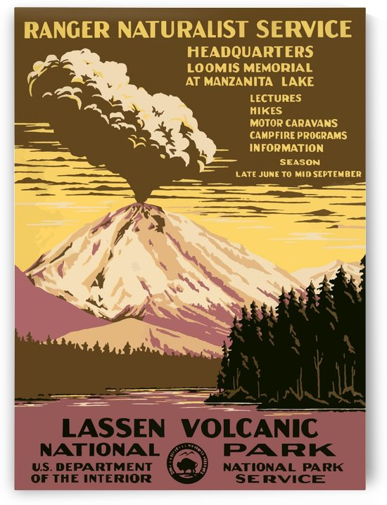Vintage Travel Poster Lassen Volcanic National Park by VINTAGE POSTER
