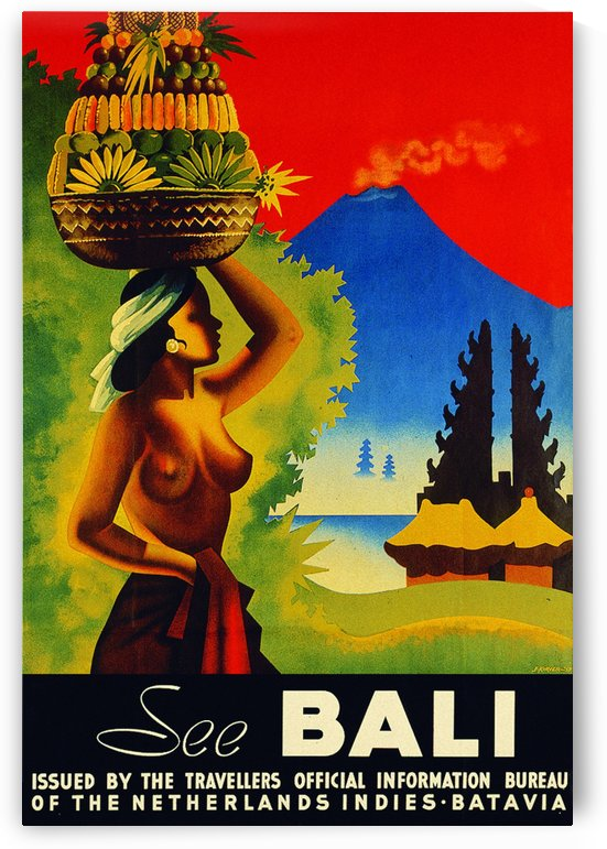 See Bali Girl travel poster by VINTAGE POSTER