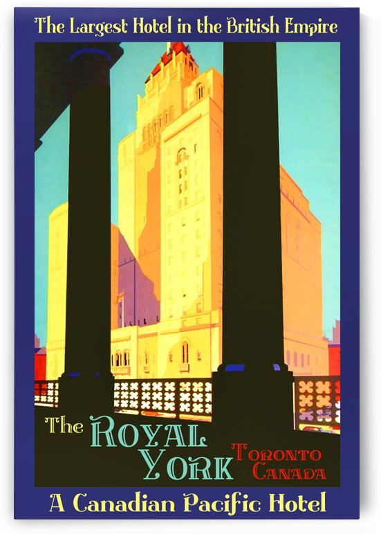 The larget hotel in the British Empire vintage poster by VINTAGE POSTER