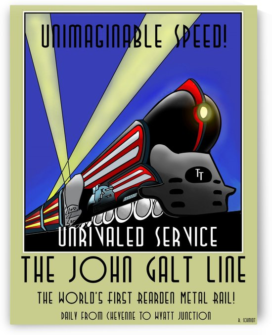 John Galt Line Travel Poster by VINTAGE POSTER