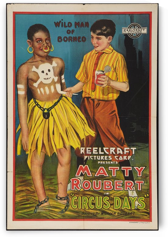 Matty Roubert in Circus Days vintage poster by VINTAGE POSTER