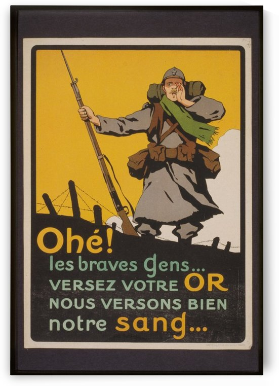 Vintage---A-soldier by VINTAGE POSTER