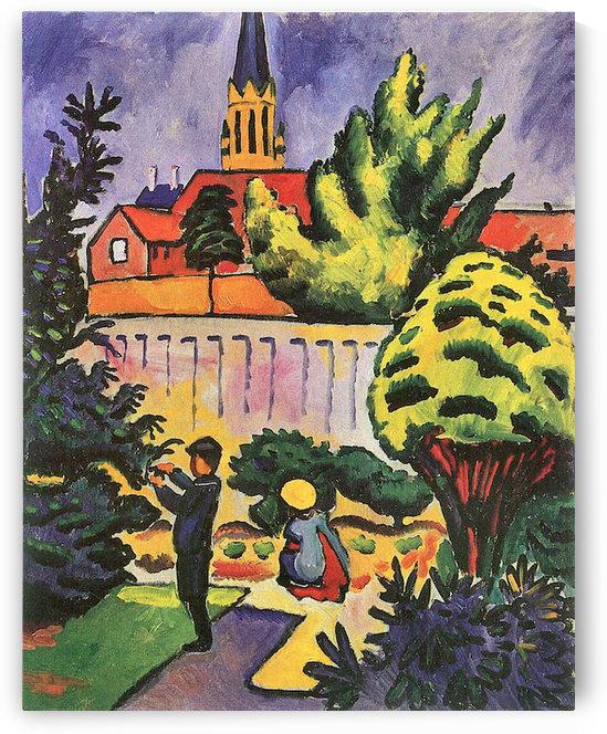 Children in the Garden by August Macke by August Macke