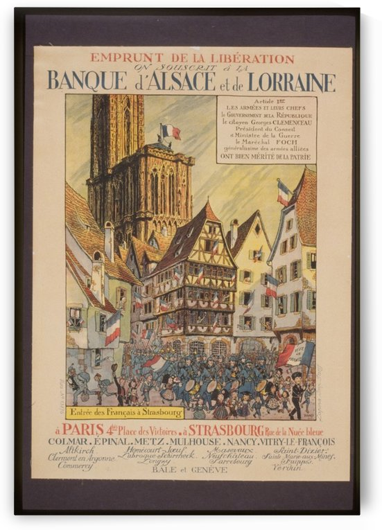 Vintage---Bank-of-Alsace-Lorrain by VINTAGE POSTER