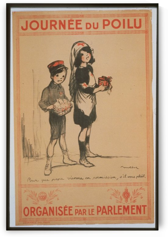Vintage---Boy-and-Girl-2 by VINTAGE POSTER