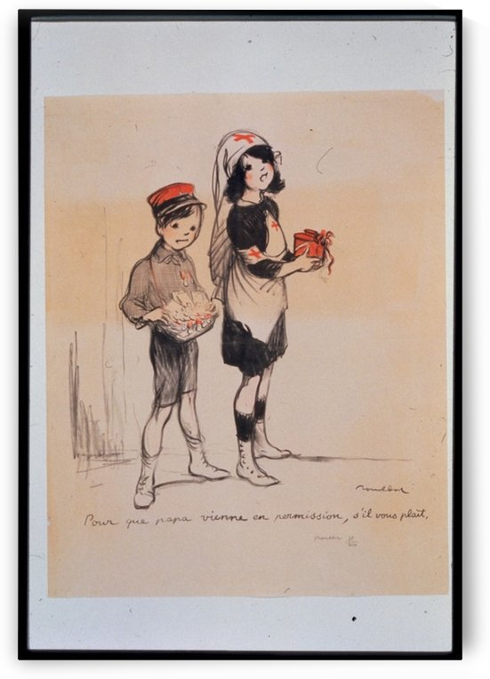 Vintage---Boy-and-Girl by VINTAGE POSTER