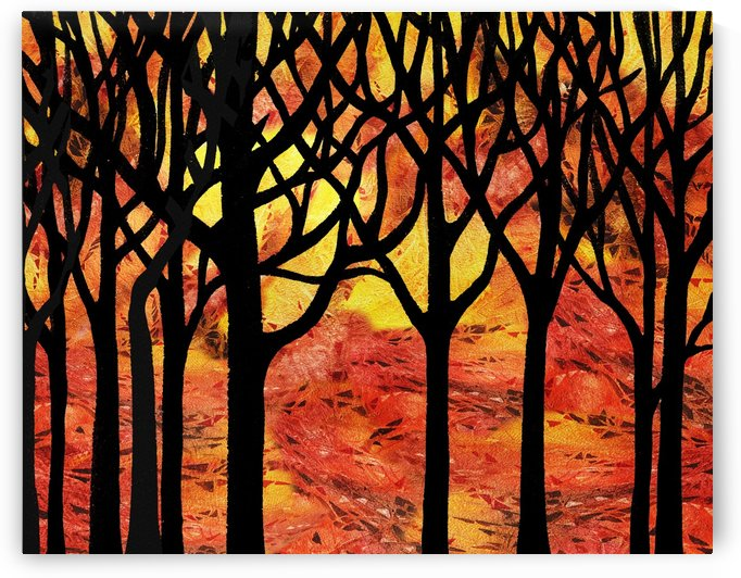 Abstract Fall Forest by Irina Sztukowski