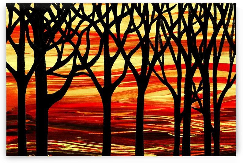 Indian Summer Abstract Forest by Irina Sztukowski