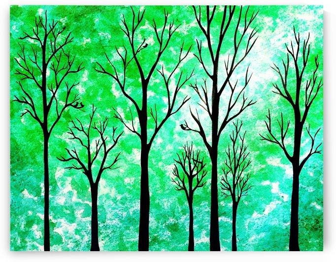 Light In The Woods Abstract by Irina Sztukowski