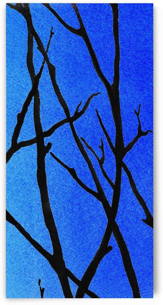 Ultramarine Forest Winter Blues III by Irina Sztukowski