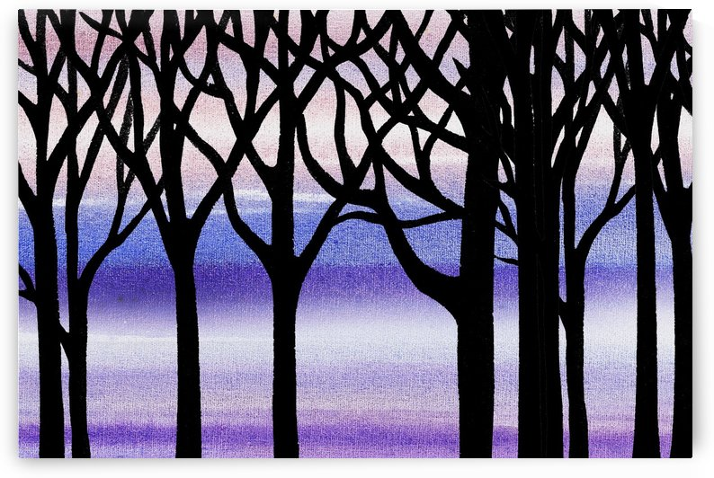 Winter Blizzard Abstract Forest by Irina Sztukowski