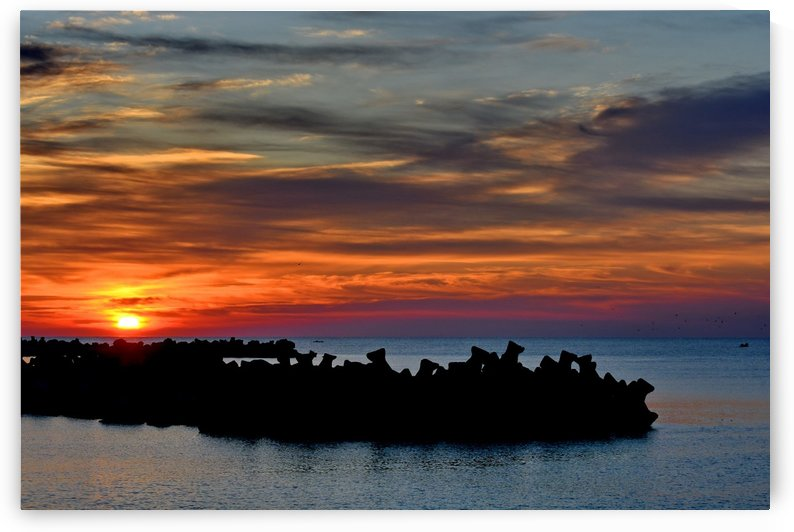 Sunset at sea by Bajan Sorin