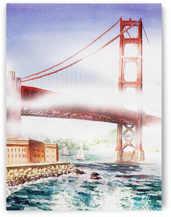 Fog At Golden Gate Of San Francisco  by Irina Sztukowski