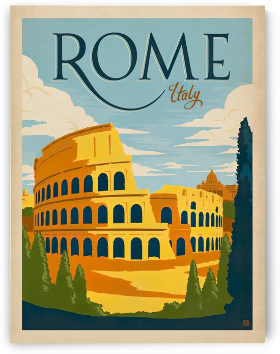 Rome Italy vintage poster by VINTAGE POSTER