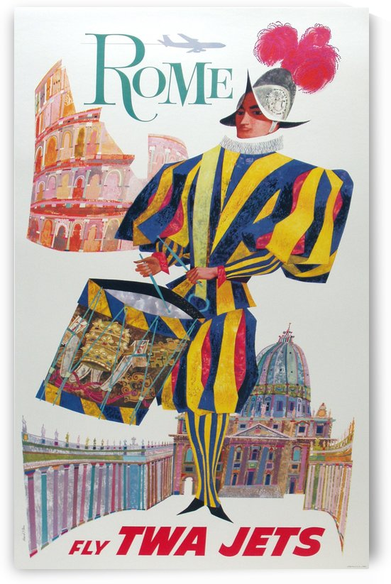 Rome Fly TWA Poster by VINTAGE POSTER