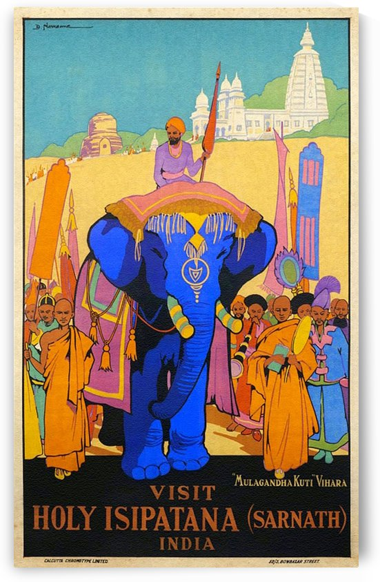Holy Isipatana, India poster by Dorothy Newsome by VINTAGE POSTER