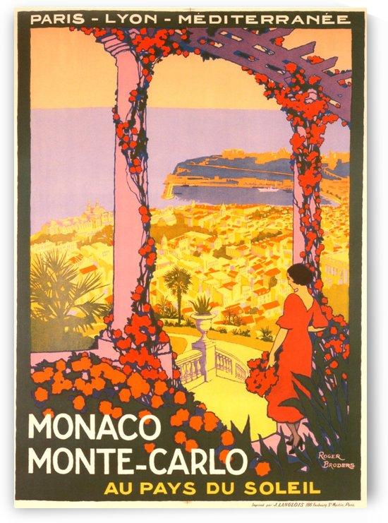 Monaco Monte Carlo 1920 vintage poster by VINTAGE POSTER