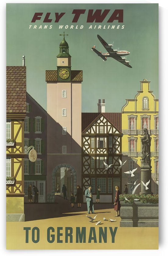 Fly TWA To Germany by VINTAGE POSTER