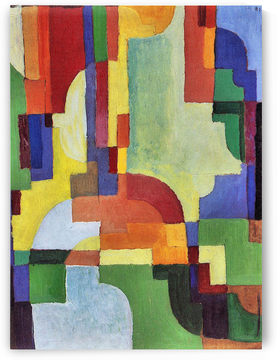 Colored forms (I) by August Macke by August Macke