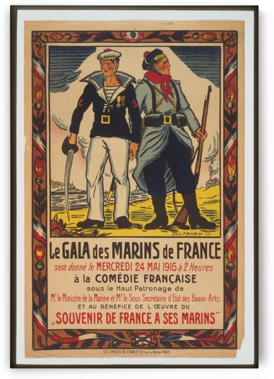 Vintage---Mariners-of-France by VINTAGE POSTER