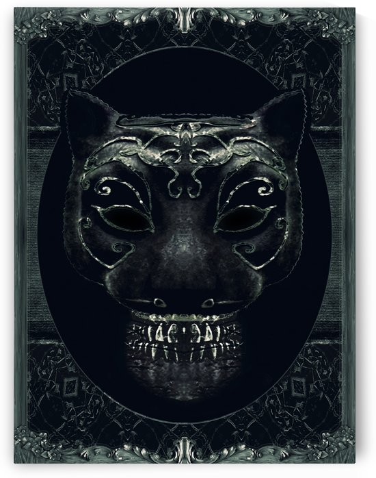 Creepy Mask Portrait with Ornate Borders by Daniel Ferreia Leites Ciccarino