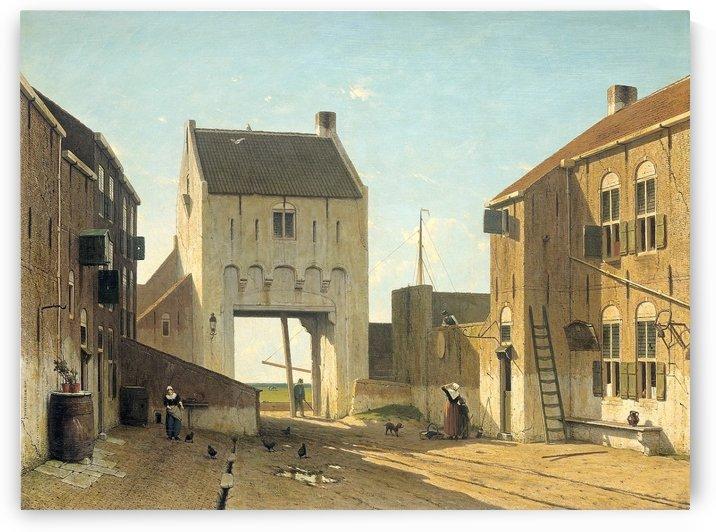 Een stadspoort te Leerdam by Jan Weissenbruch