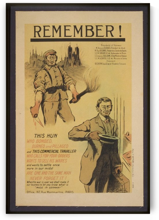 Vintage---Remember-the-Hun by VINTAGE POSTER