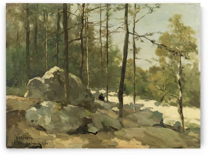 Forest View near Barbizon by Jan Weissenbruch