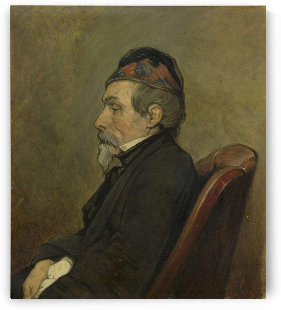 Portrait of Johan Hendrick Louis Meyer, Marine Painter by Jan Weissenbruch