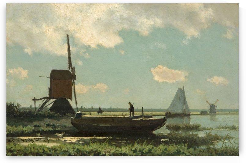 Pramende Boer by Jan Weissenbruch