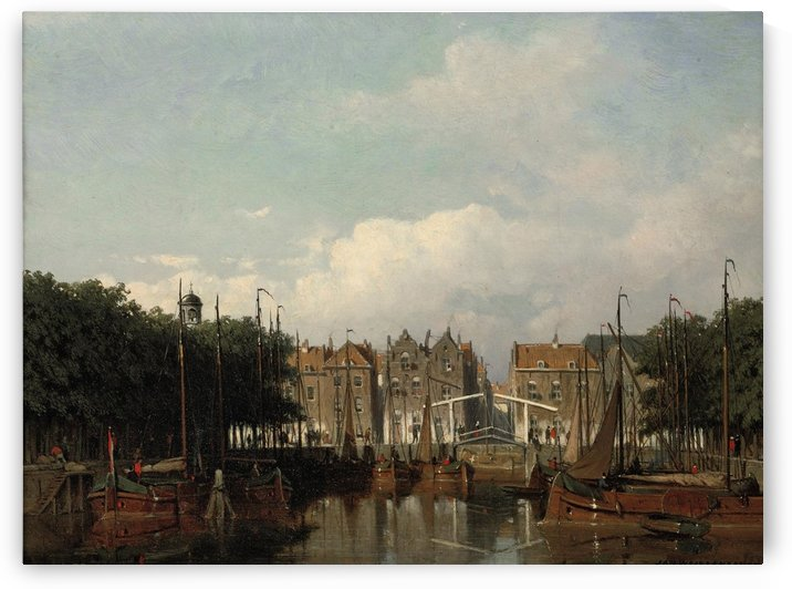 The Harbour of Rotterdam in summer by Jan Weissenbruch