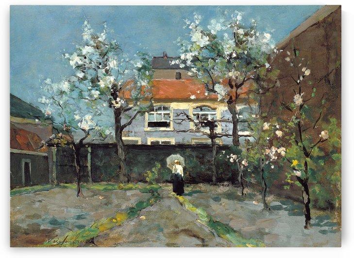 The back garden by Jan Weissenbruch
