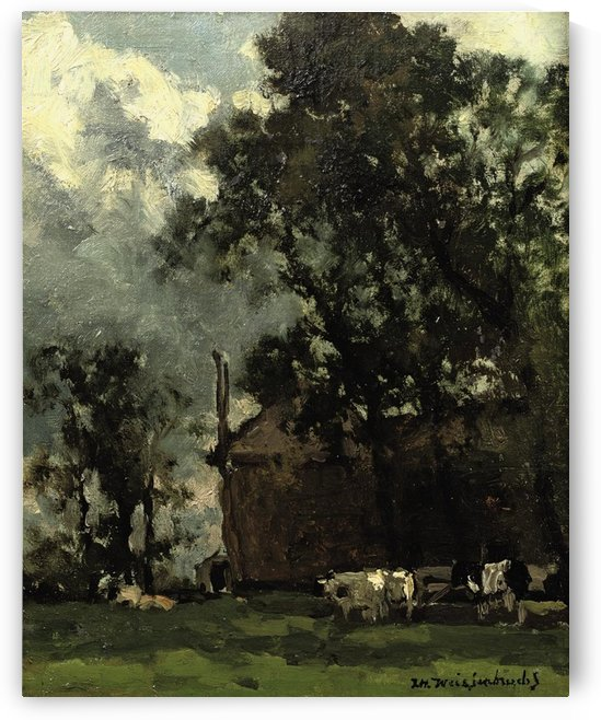 Cows in a Sunny Landscape by Jan Weissenbruch