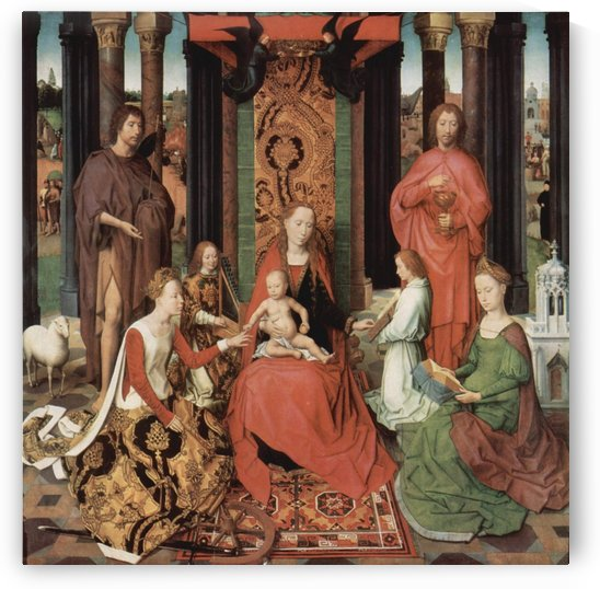 The Virgin enthroned with Child by Hans Memling