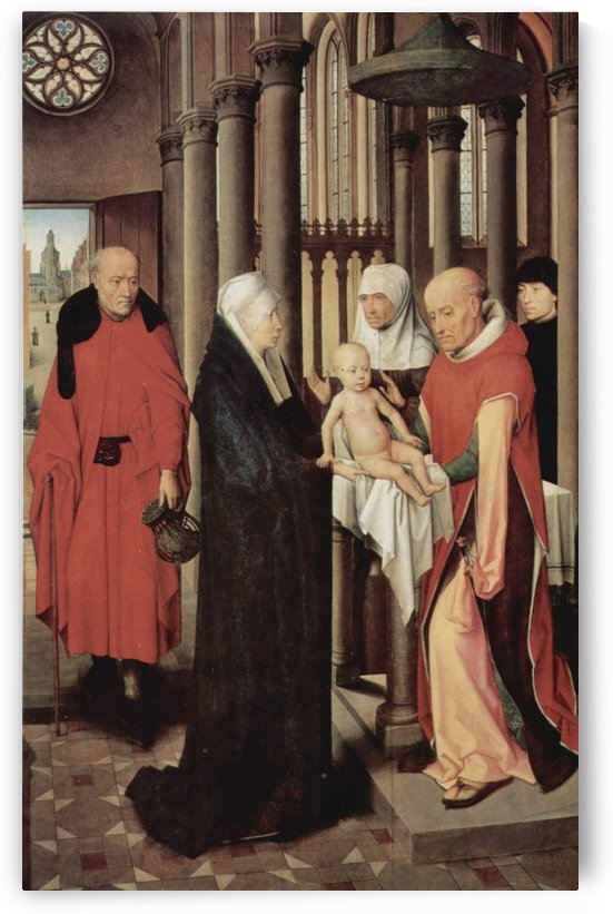 Adoration of the Magi Right wing of triptych, depicting the Presentation in the Temple by Hans Memling