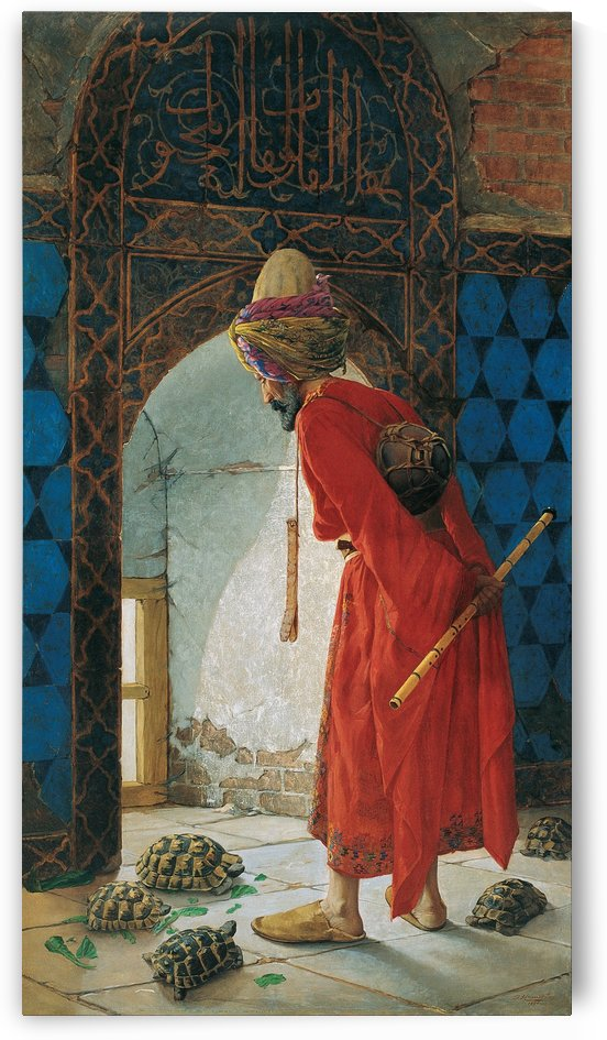 The Tortoise Trainer by Osman Hamdi Bey
