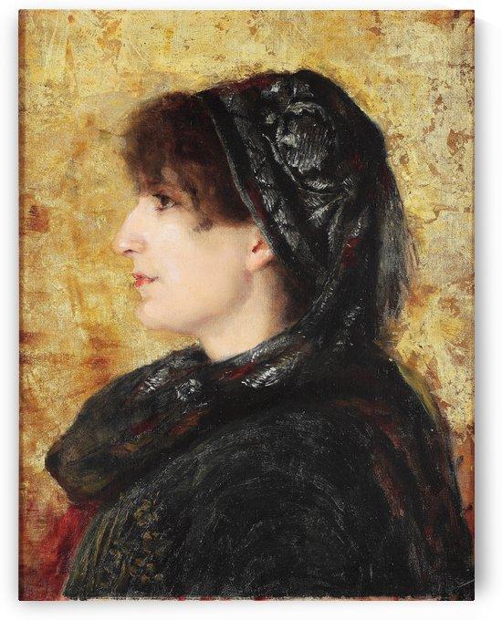 Portrait of Naile Hanım by Osman Hamdi Bey