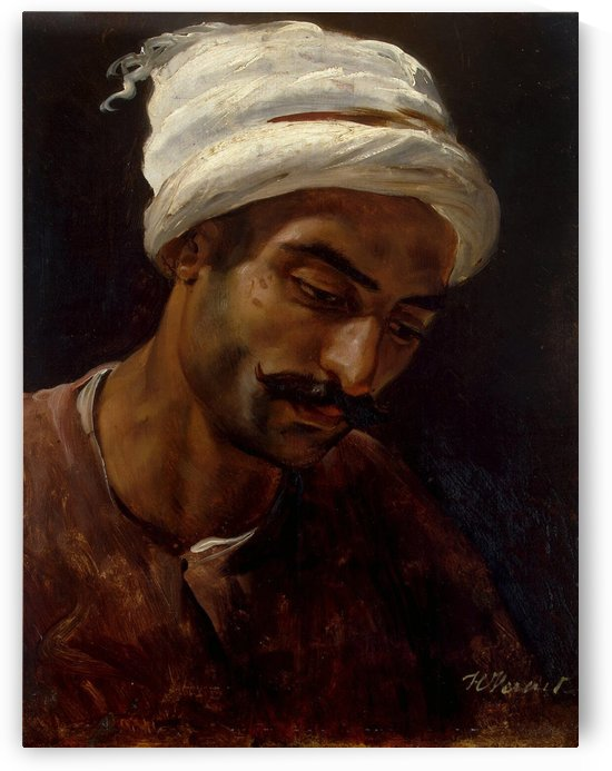Head of an Arab by Antoine Charles Horace Vernet