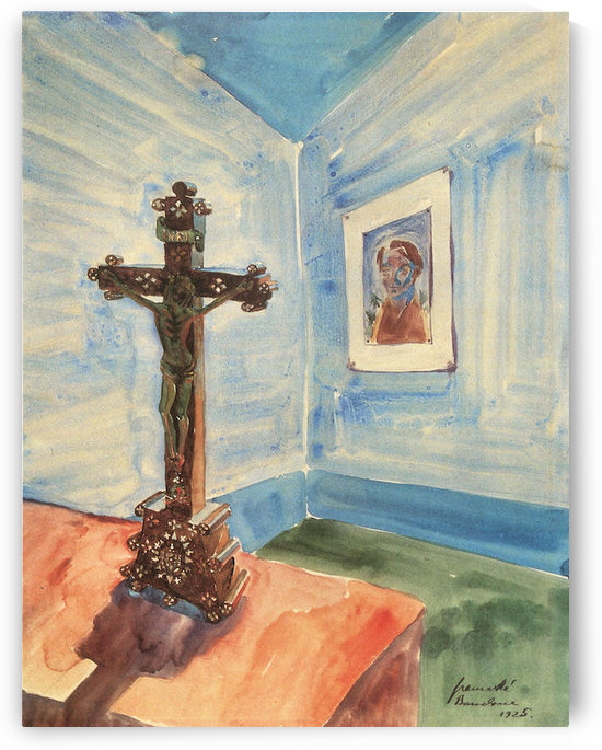 Crucifix in the room by Walter Gramatte by Walter Gramatte