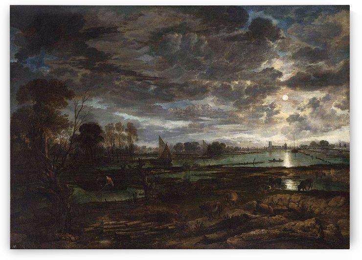 River Landscape by Salomon van Ruysdael