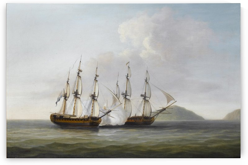 Captain George Montagu of the Pearl by Dominic Serres